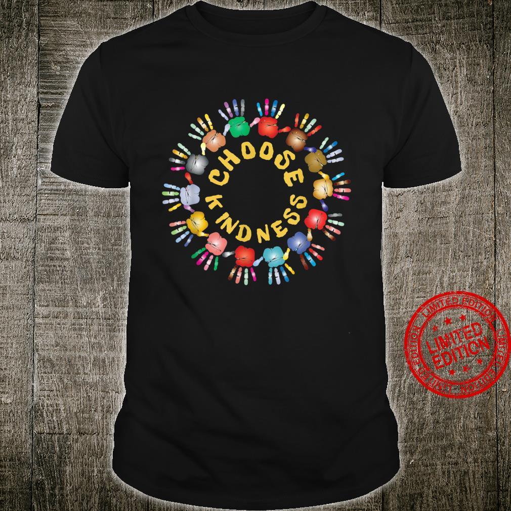 Choose Kindness Rainbow Circle Hands Togetherness Shirt