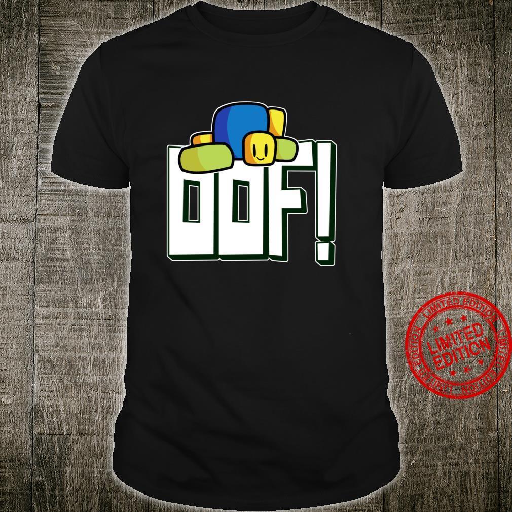 Cute Gaming Noob Oof Meme Saying Gamer For Langarmshirt Shirt
