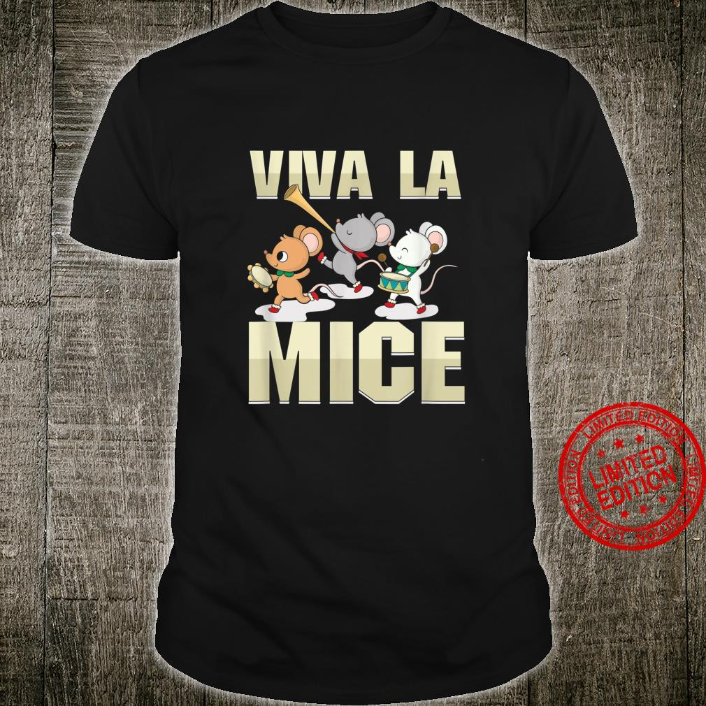 Cute Mouse Rat Rodent Owner Viva La Mice Marching Band Shirt