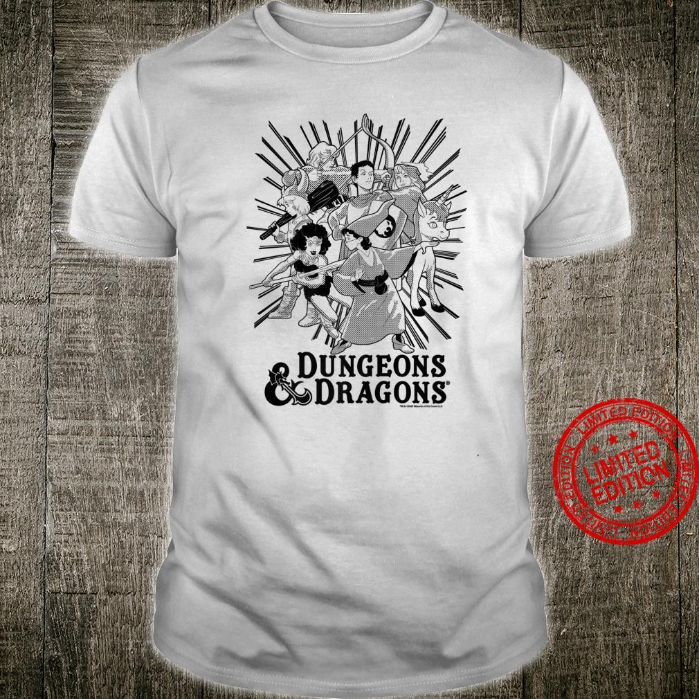 Dungeons And Dragons Group Shot Dark Tones Shirt