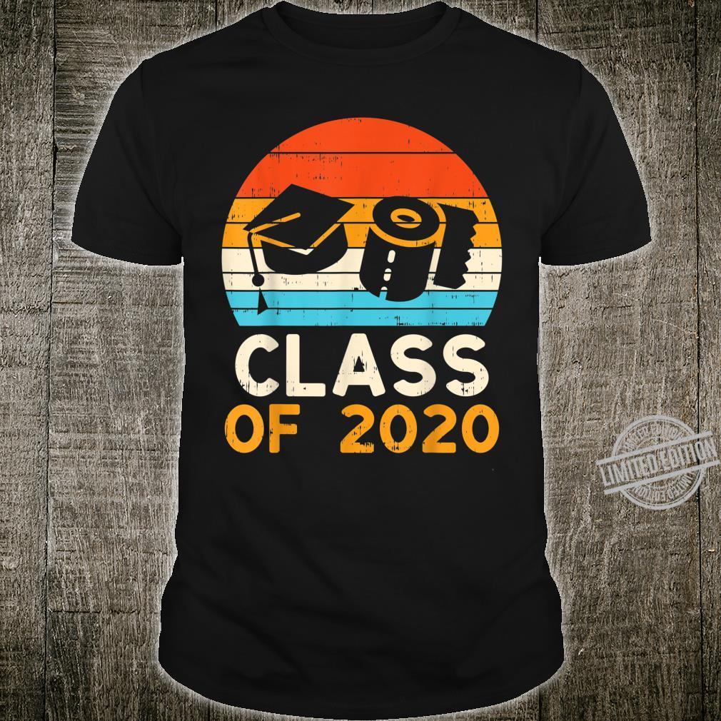 Graduation Hat Toilet Paper Class 2020 Retro Quarantine Shirt