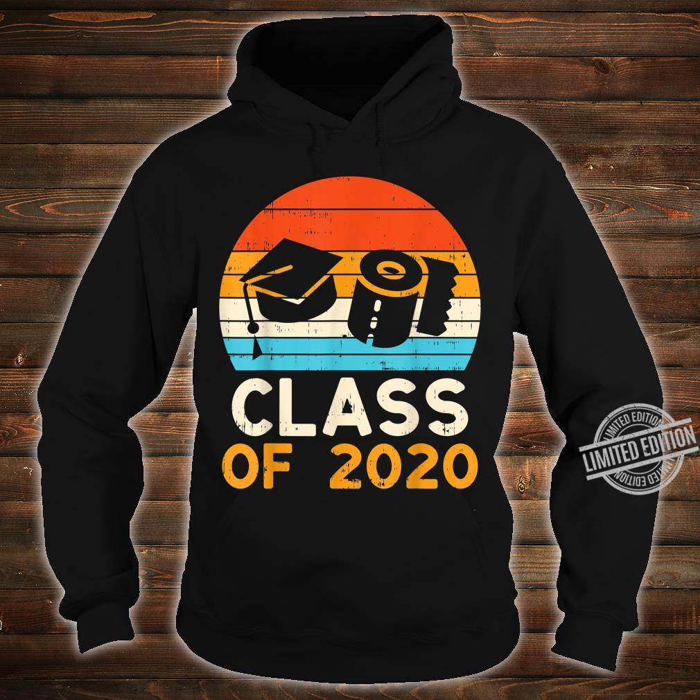 Graduation Hat Toilet Paper Class 2020 Retro Quarantine Shirt hoodie