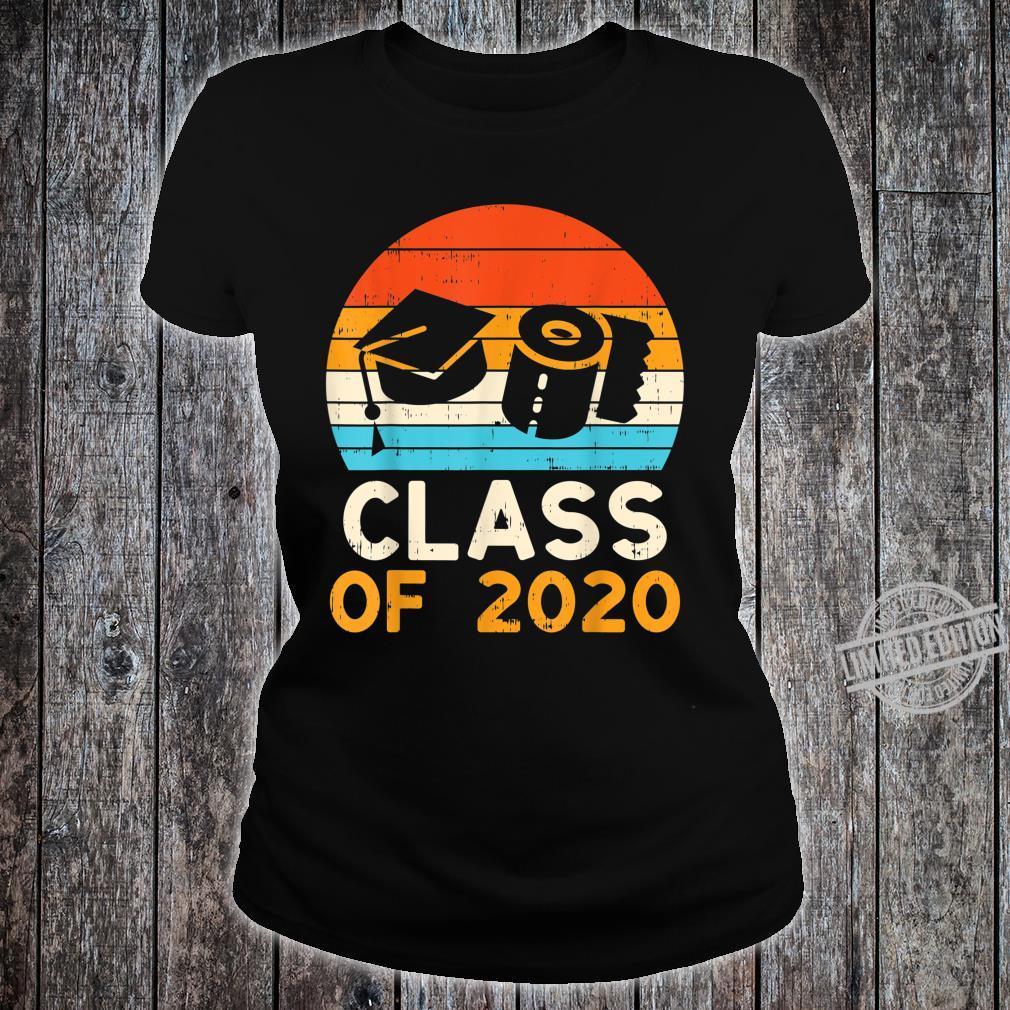 Graduation Hat Toilet Paper Class 2020 Retro Quarantine Shirt ladies tee