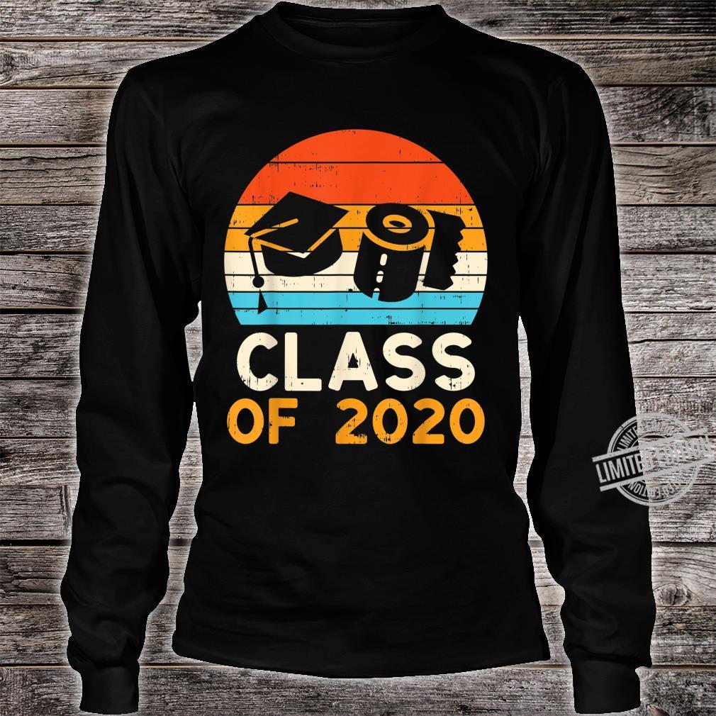 Graduation Hat Toilet Paper Class 2020 Retro Quarantine Shirt long sleeved