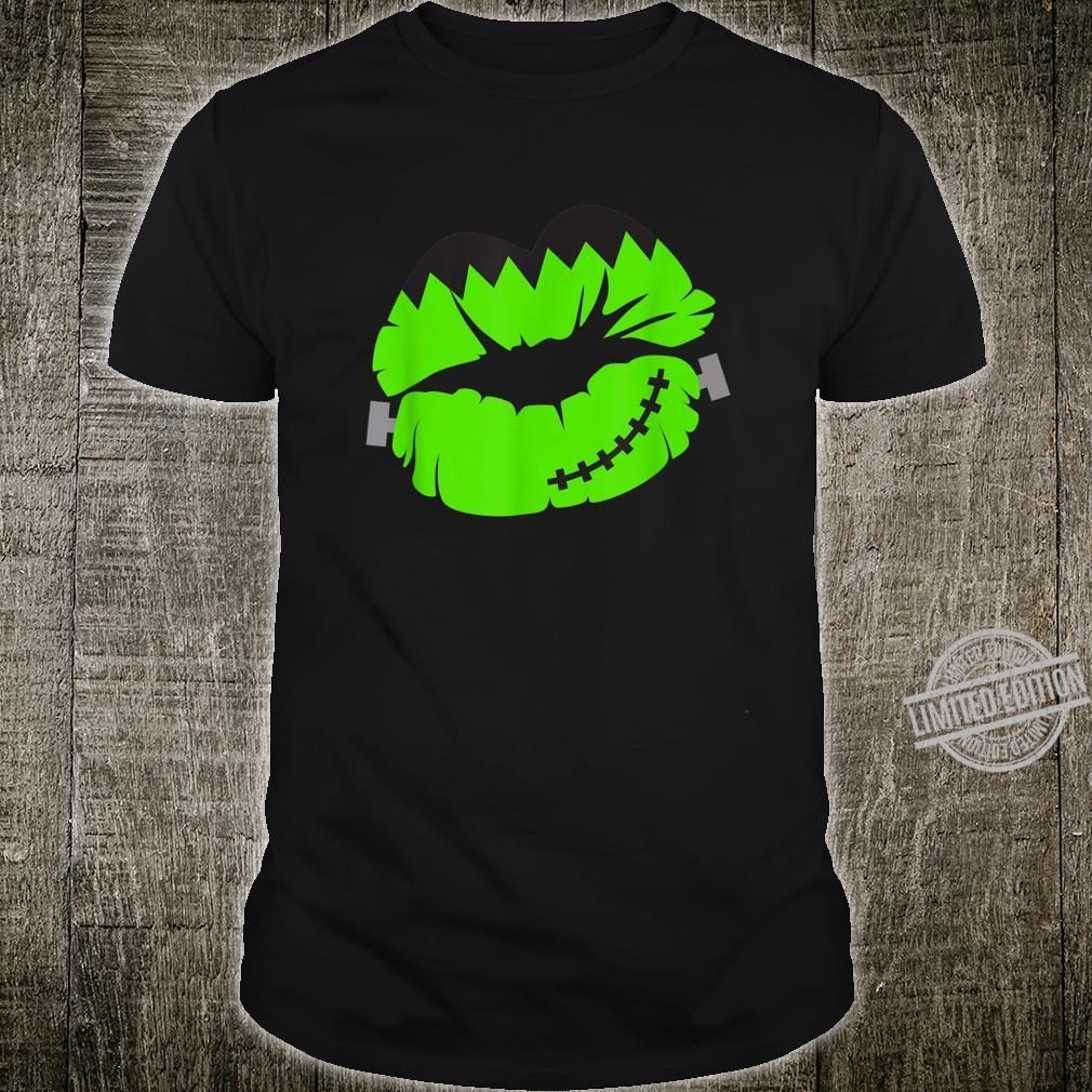 Green Frankenstein Lips Shirt
