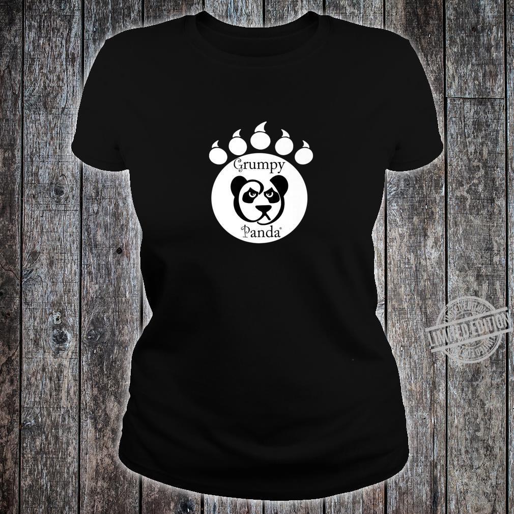 Grumpy Panda Paw Print Shirt ladies tee