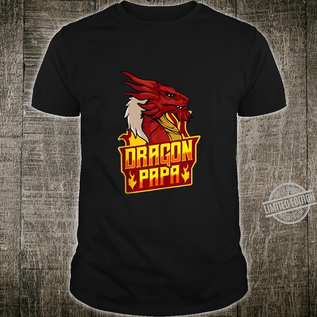 Mens Awesome Dragon Papa Fearsome Dragon Fantasy Loving Dad Shirt