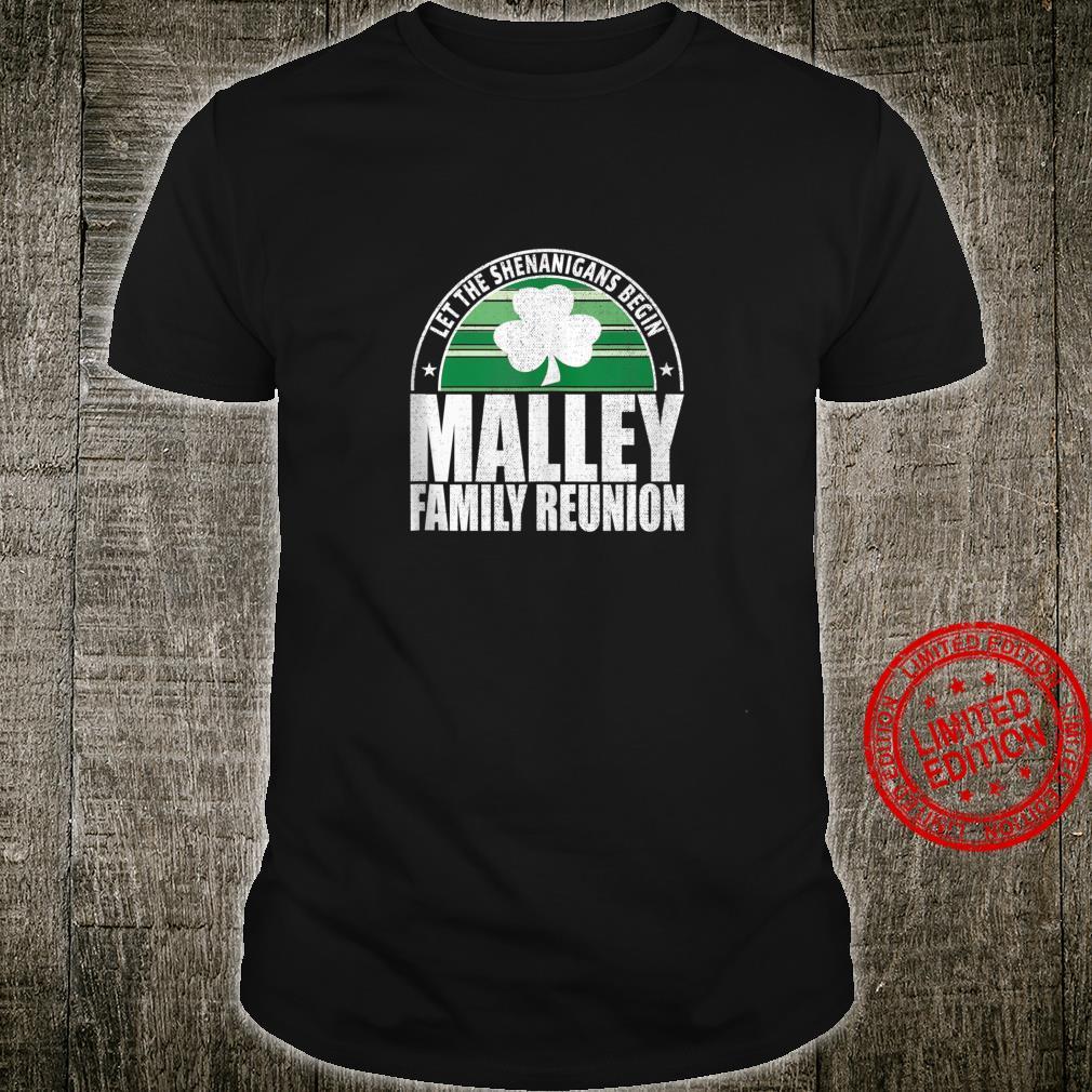 Retro Malley Family Reunion Irish Shirt