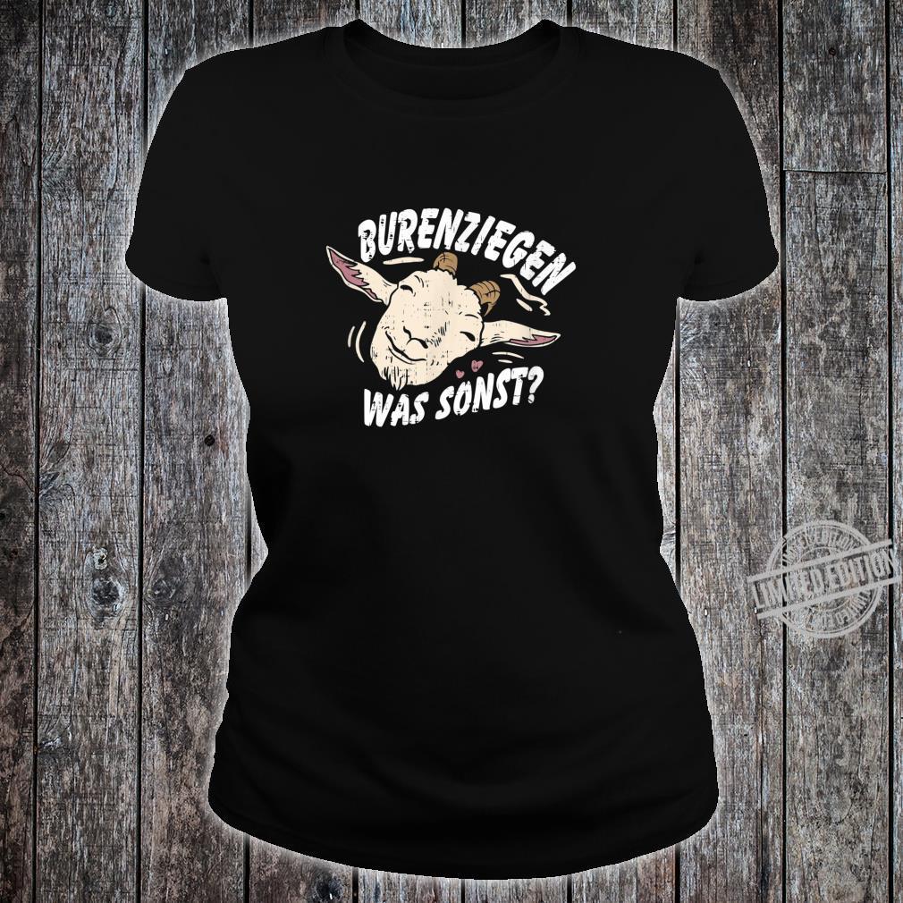 Retro Vintage Ziegendesigns für Ziegenfans, Ziegenfreunde Shirt ladies tee