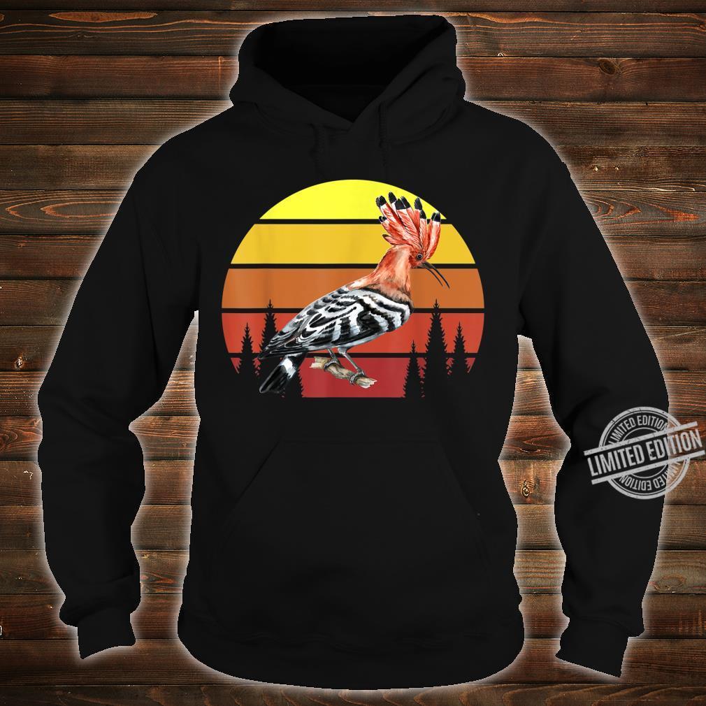 Retro Wiedehopf Awesome Cool Vintage Shirt hoodie