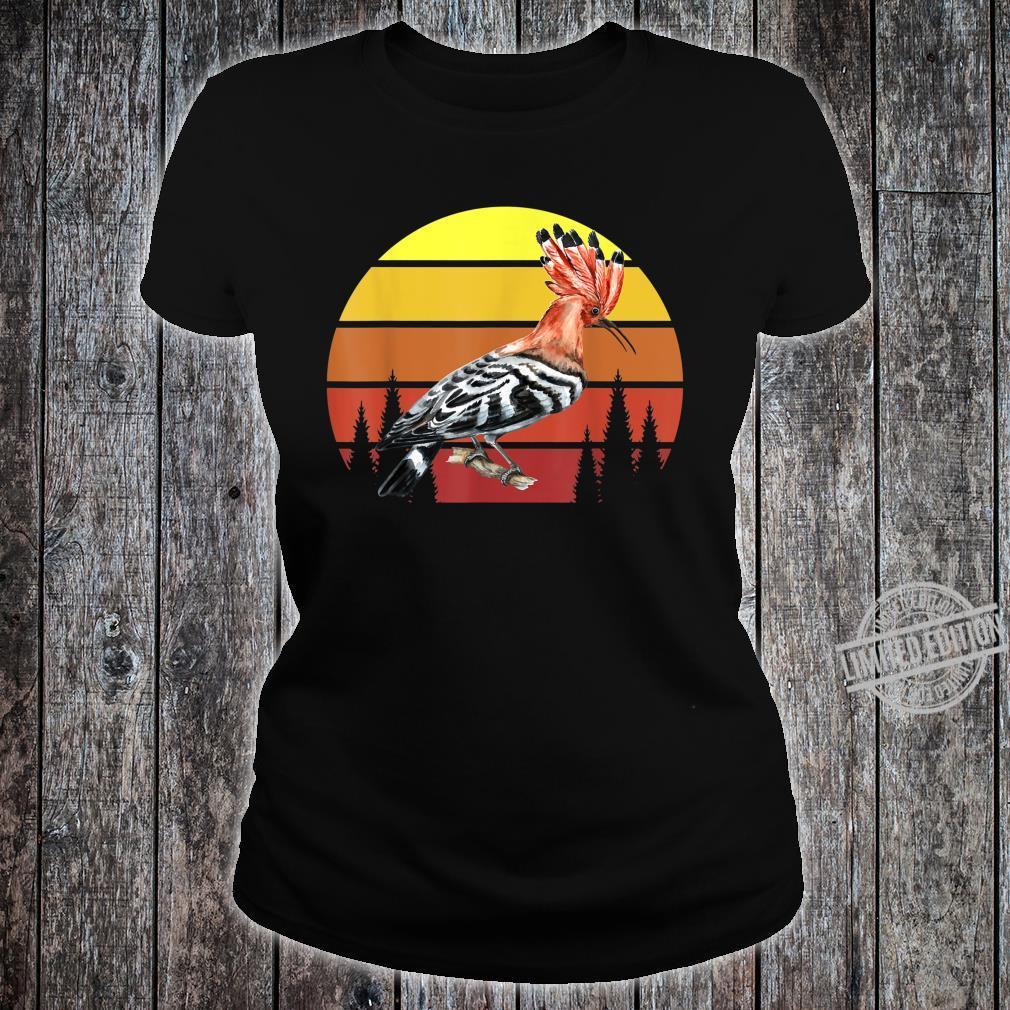 Retro Wiedehopf Awesome Cool Vintage Shirt ladies tee