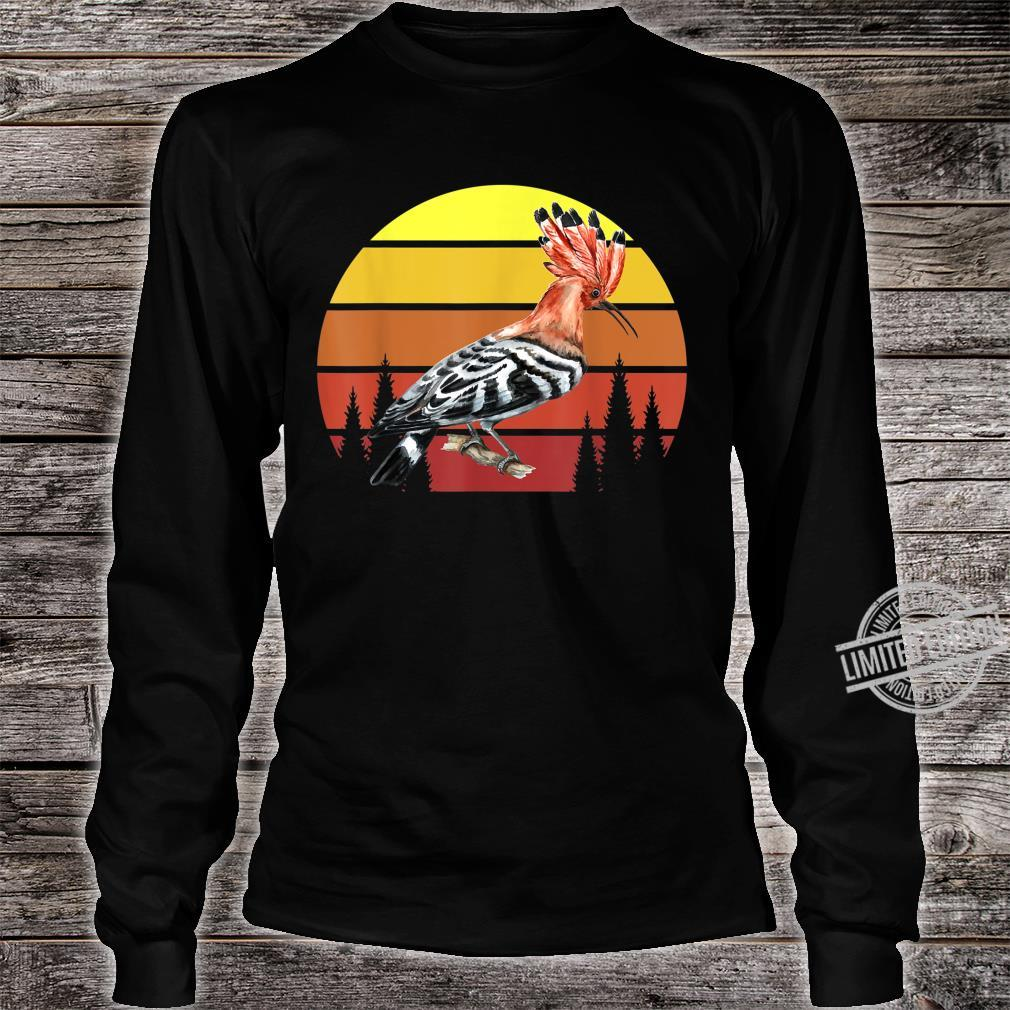 Retro Wiedehopf Awesome Cool Vintage Shirt long sleeved