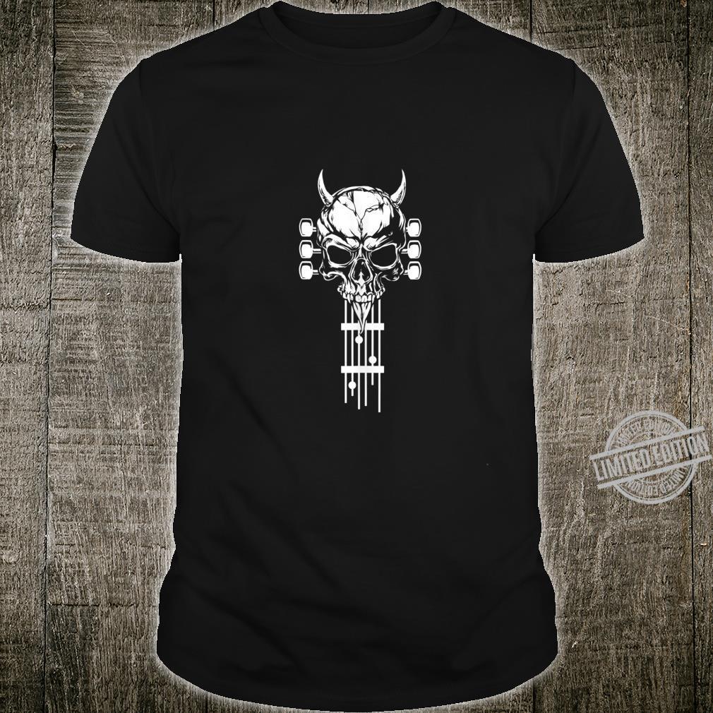 Rock & Roll Skull Skeleton Guitar Music Shirt