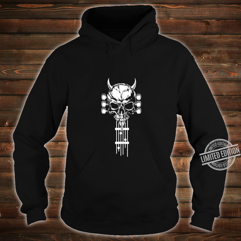Rock & Roll Skull Skeleton Guitar Music Shirt hoodie