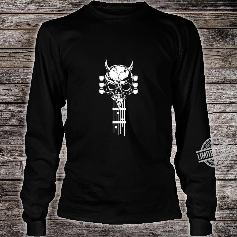 Rock & Roll Skull Skeleton Guitar Music Shirt long sleeved