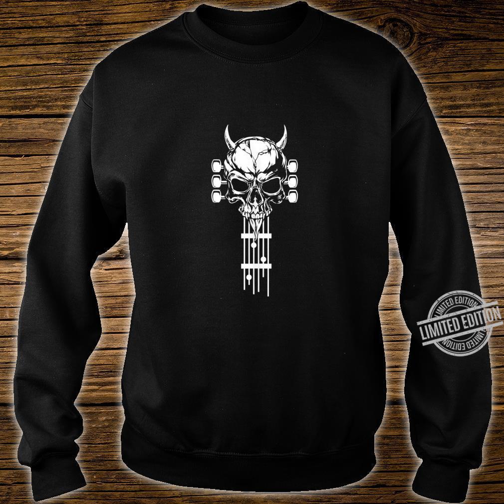 Rock & Roll Skull Skeleton Guitar Music Shirt sweater