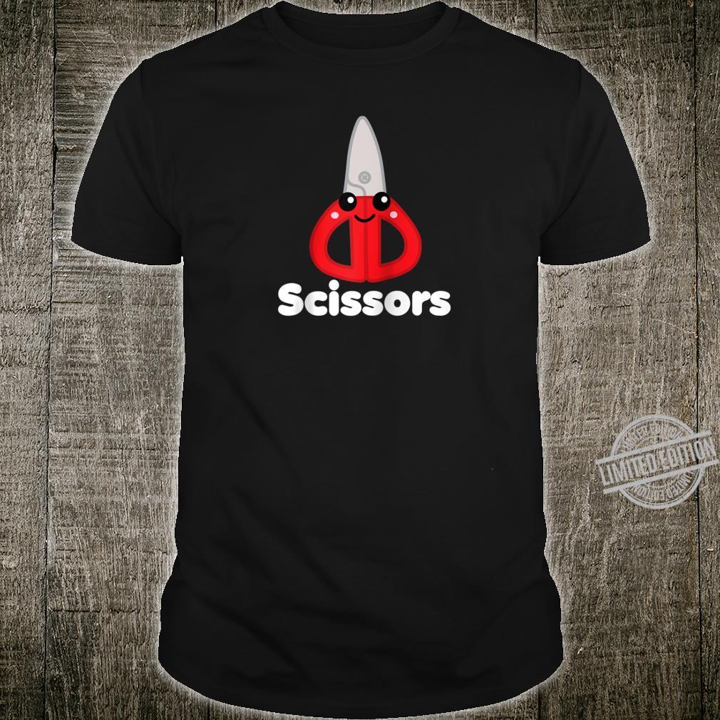 Rock Paper Scissors Group Halloween Costume Dark Shirt