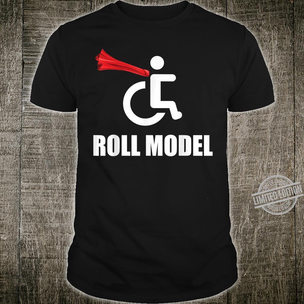 Roll Model Hero Cape Wheelchair Pun Shirt