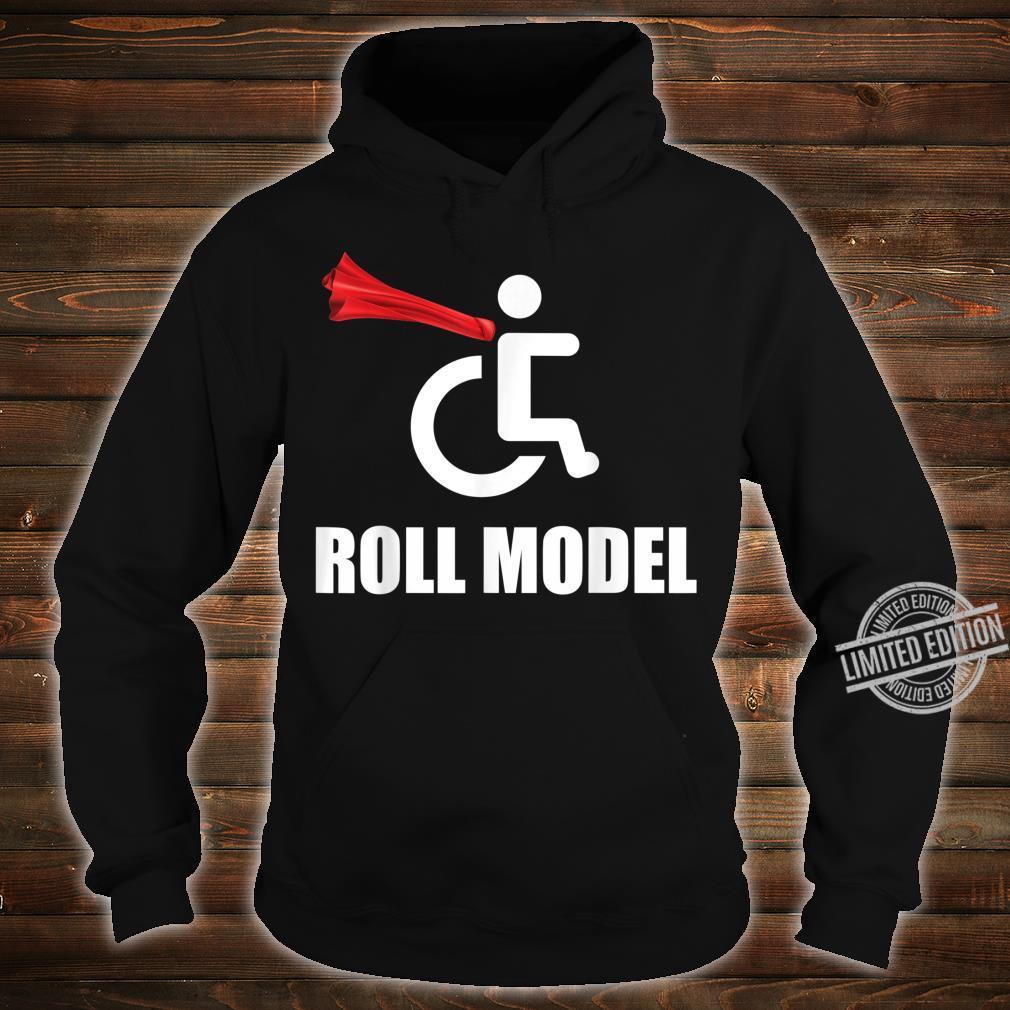 Roll Model Hero Cape Wheelchair Pun Shirt hoodie