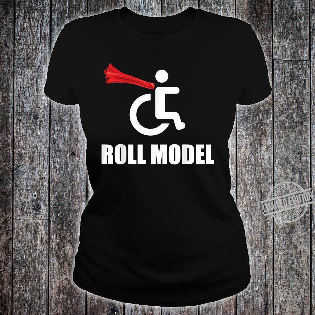 Roll Model Hero Cape Wheelchair Pun Shirt ladies tee