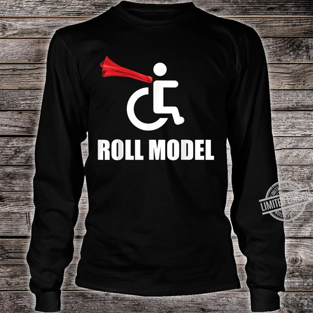 Roll Model Hero Cape Wheelchair Pun Shirt long sleeved
