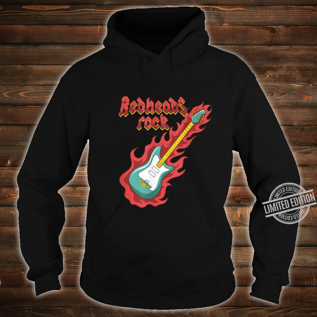 Rothaarige Redheads RockGitarrist Bassist Ginger Musiker Shirt hoodie
