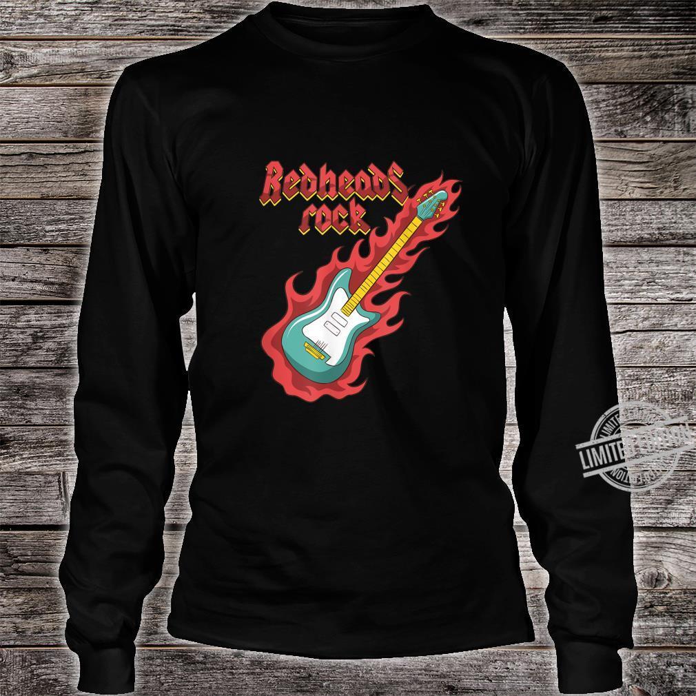 Rothaarige Redheads RockGitarrist Bassist Ginger Musiker Shirt long sleeved