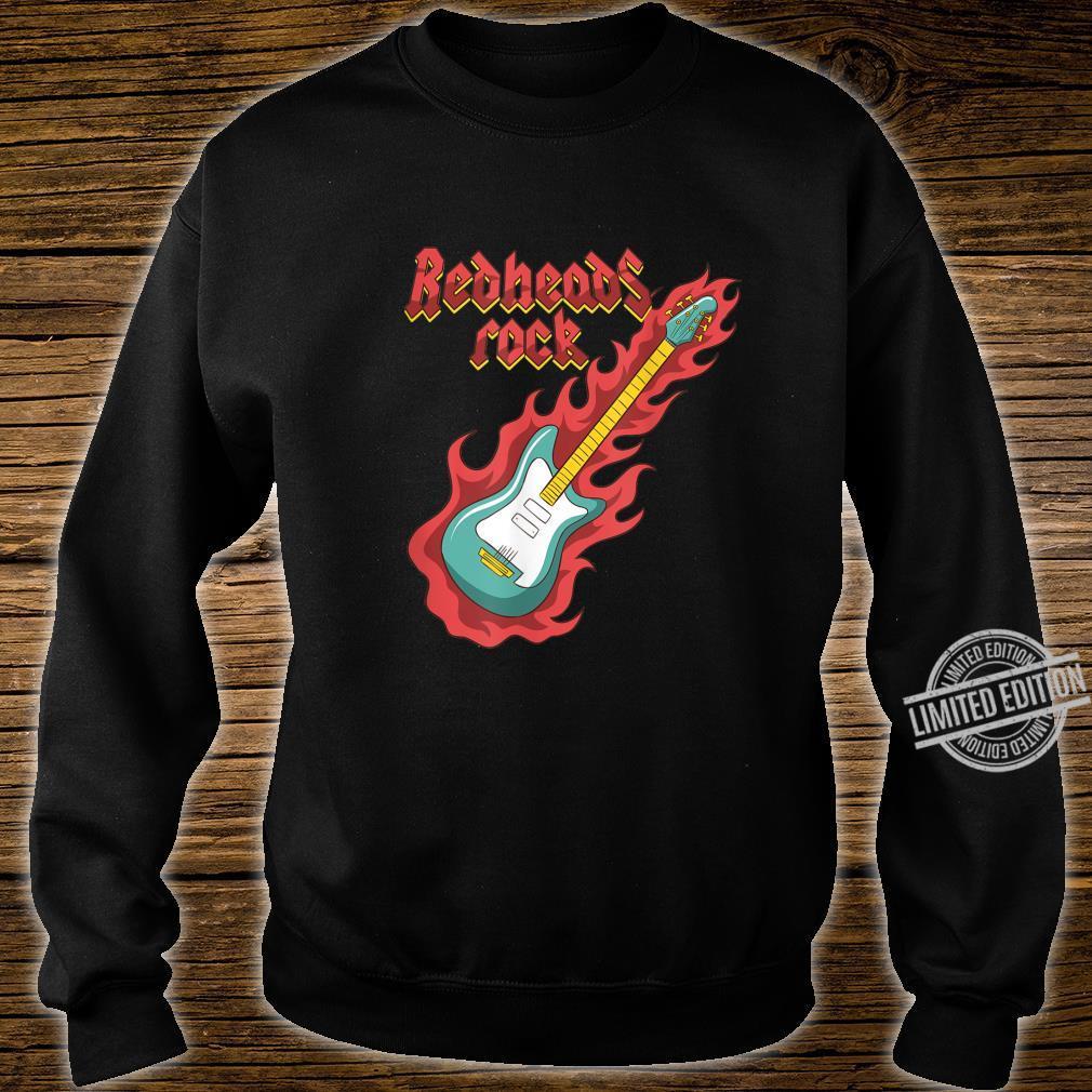 Rothaarige Redheads RockGitarrist Bassist Ginger Musiker Shirt sweater
