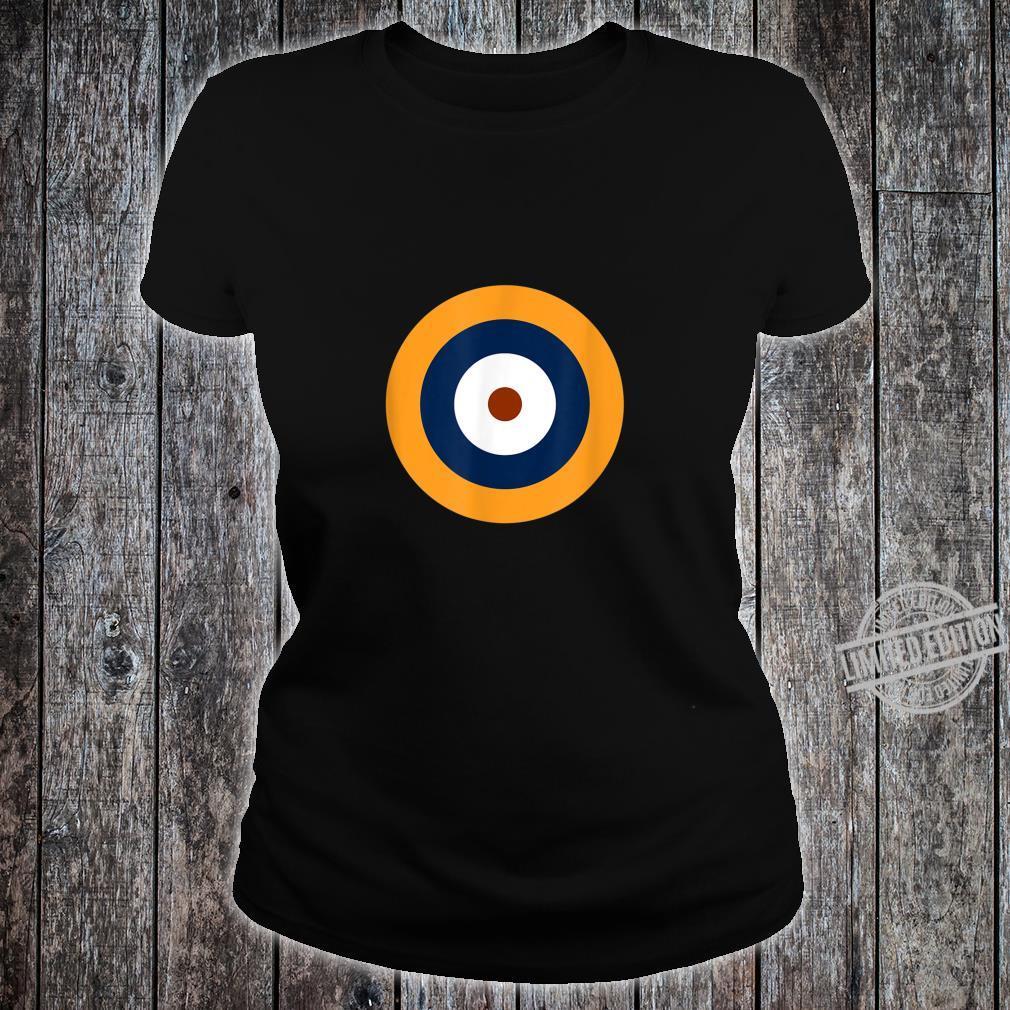 Royal Air Force Roundel RAF WW2 WWII War Logo Shirt ladies tee