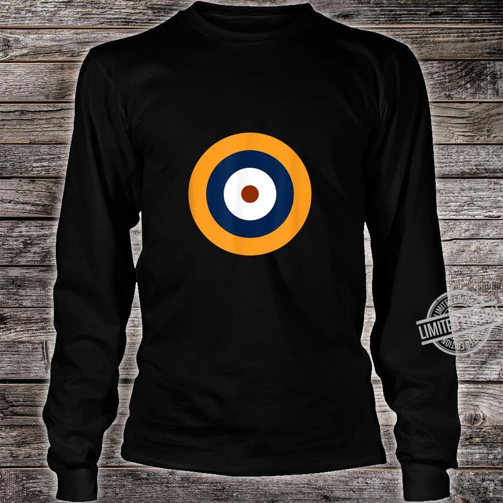 Royal Air Force Roundel RAF WW2 WWII War Logo Shirt long sleeved