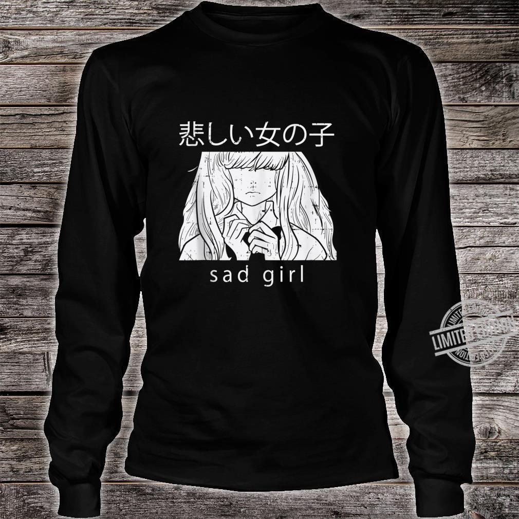 Sad Girl Anime Goth Aesthetic Manga Japanese Otaku Shirt long sleeved