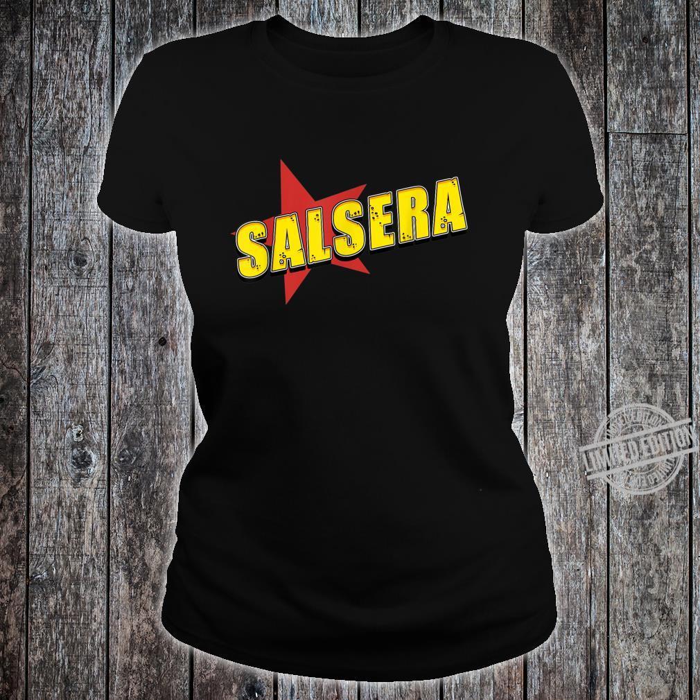Salsa der Tanz mit Musik aus Kuba in der Karibik, Südamerika Shirt ladies tee