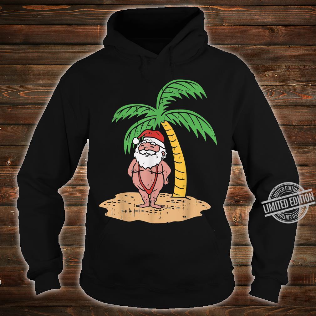 Santa Summer Swimsuit Christmas In July Beach Shirt hoodie