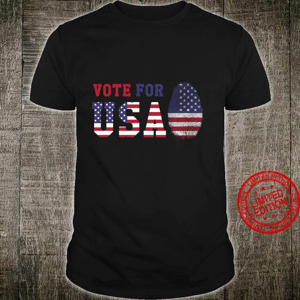 USA Flaggenabstimmung für USA Langarmshirt Shirt