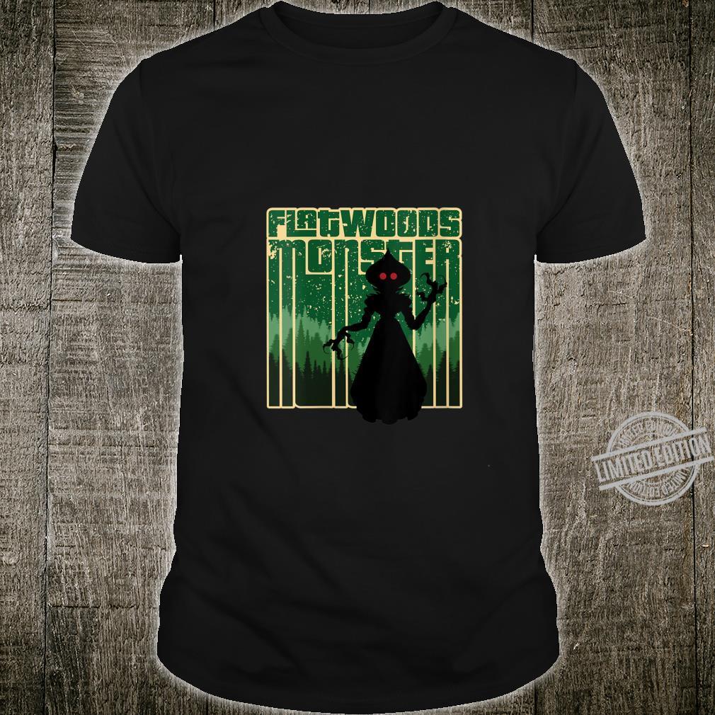 Womens Retro The Flatwoods Monster Original WV Cryptid Artwork Shirt